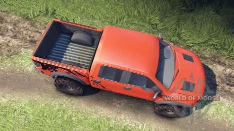Ford Raptor SVT v1.2 factory comp orange для Spin Tires