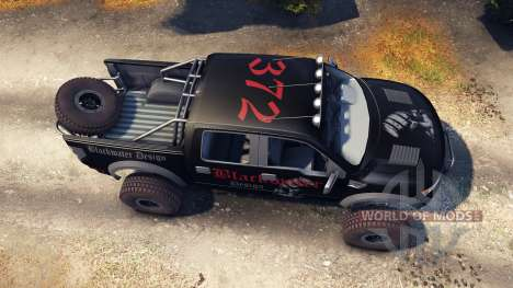 Ford Raptor Pre-Runner blackwater для Spin Tires