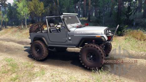 Jeep YJ 1987 Open Top silver для Spin Tires