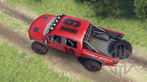 Ford Raptor Pre-Runner v1.1 terrible herbst для Spin Tires