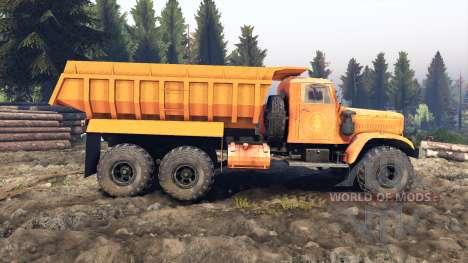 КрАЗ-255 В1 v3.0 для Spin Tires