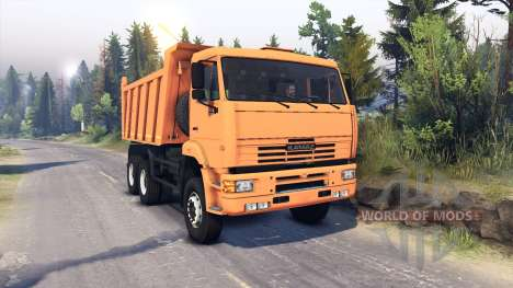 КамАЗ-6522 v0.1 для Spin Tires