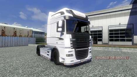 Скин White Edition на тягач DAF XF для Euro Truck Simulator 2