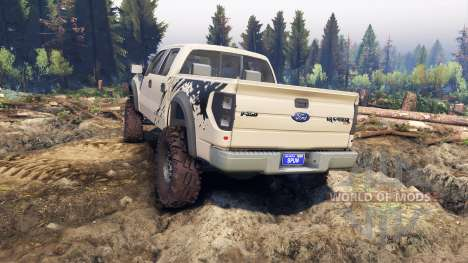 Ford Raptor SVT v1.2 factory pale adobe для Spin Tires