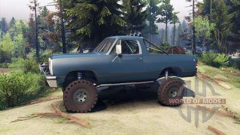 Dodge Ramcharger 1991 Open Top v1.1 light blue для Spin Tires
