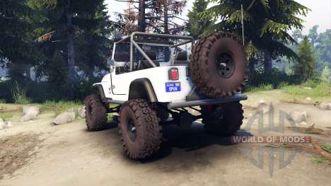 Jeep YJ 1987 Open Top white для Spin Tires