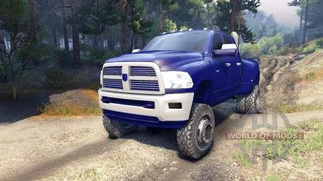 Dodge Ram 3500 dually v1.1 blue для Spin Tires