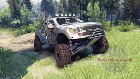 Ford Raptor Pre-Runner v1.1 monster для Spin Tires