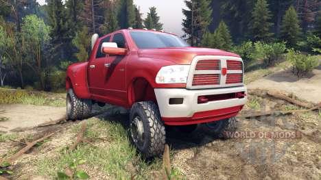 Dodge Ram 3500 dually v1.1 red для Spin Tires