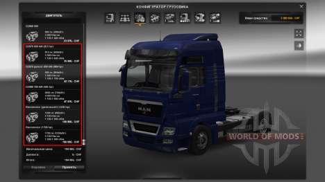 Двигатели для грузовиков MAN для Euro Truck Simulator 2