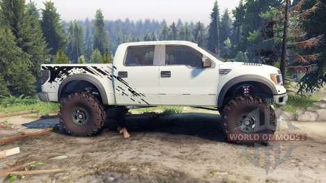 Ford Raptor SVT v1.2 factory terrain для Spin Tires