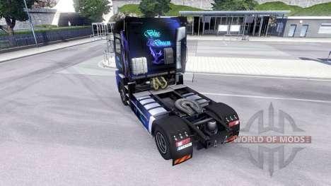 Скин Blue Dream на тягач Renault Magnum для Euro Truck Simulator 2