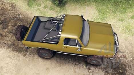 Dodge Ramcharger 1991 Open Top v1.1 olive green для Spin Tires