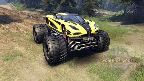 Koenigsegg One:1 Monster для Spin Tires