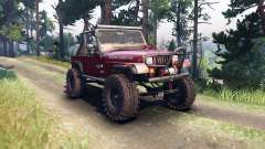 Jeep YJ 1987 Open Top maroon