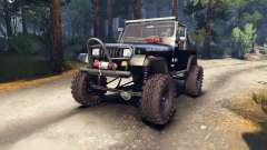 Jeep YJ 1987 Open Top black
