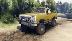 Dodge Ramcharger 1991 Open Top v1.1 olive green