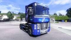 Скин Blue Dream на тягач Renault Magnum