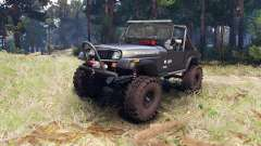 Jeep YJ 1987 Open Top gray