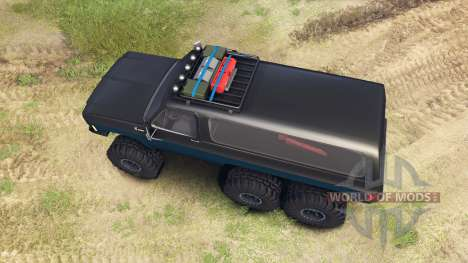 Chevrolet K5 Blazer 1975 Equipped black and blue для Spin Tires