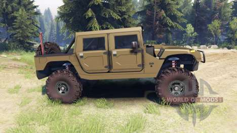 Hummer H1 army green для Spin Tires