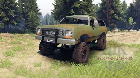 Dodge Ramcharger 1985 v1.0 для Spin Tires