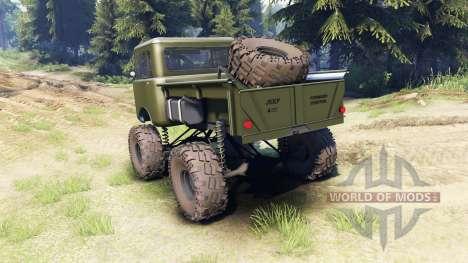 Jeep FC green для Spin Tires