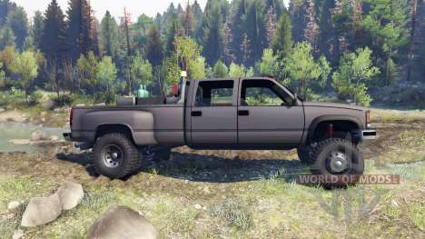 GMC Suburban 1995 Crew Cab Dually gray для Spin Tires
