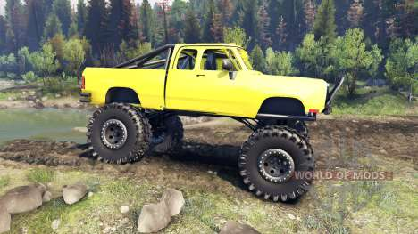 Dodge D200 yellow для Spin Tires