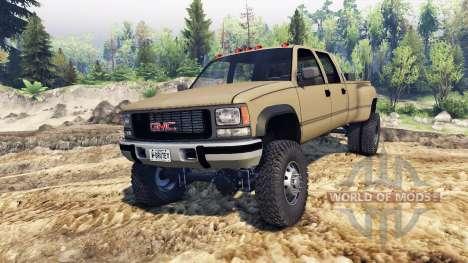 GMC Suburban 1995 Crew Cab Dually tan для Spin Tires