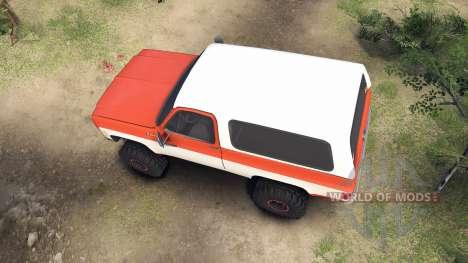 Chevrolet K5 Blazer 1975 orange and white для Spin Tires