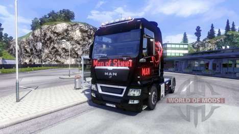 Скин Man Of Steel на тягач MAN для Euro Truck Simulator 2
