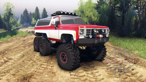 Chevrolet K5 Blazer 1975 Equipped red and white для Spin Tires