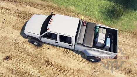 GMC Suburban 1995 Crew Cab Dually white для Spin Tires
