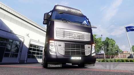 Новые огни и брызговики у Volvo для Euro Truck Simulator 2