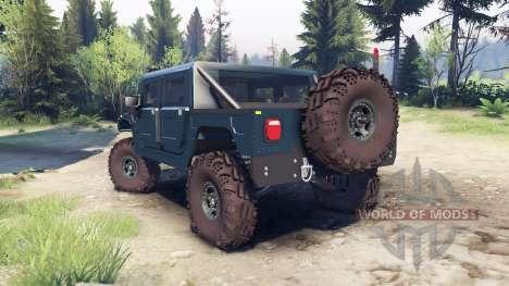 Hummer H1 ocean blue для Spin Tires