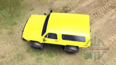 Chevrolet K5 Blazer 1975 v1.5 yellow для Spin Tires