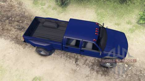 GMC Suburban 1995 Crew Cab Dually blue для Spin Tires