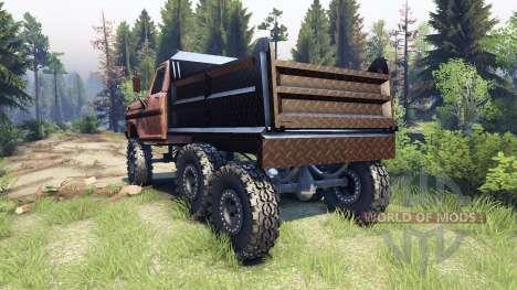 Ford F-100 6x6 v1.1 rusty для Spin Tires