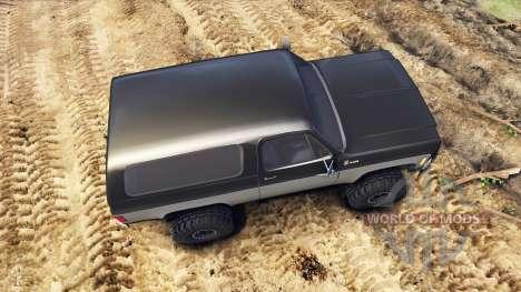 Chevrolet K5 Blazer 1975 black and silver для Spin Tires