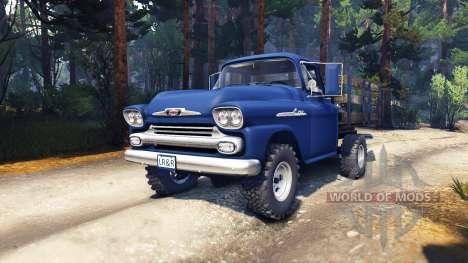 Chevrolet Apache 1959 Fleetside v1.1 для Spin Tires