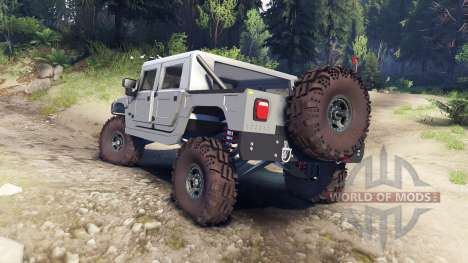 Hummer H1 silver для Spin Tires
