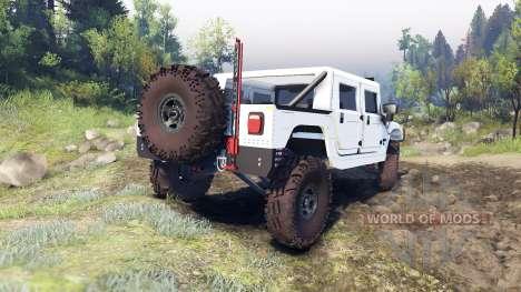 Hummer H1 white для Spin Tires