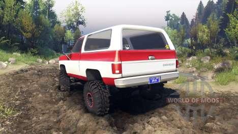 Chevrolet K5 Blazer 1975 red and white для Spin Tires