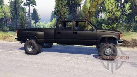 GMC Suburban 1995 Crew Cab Dually black для Spin Tires