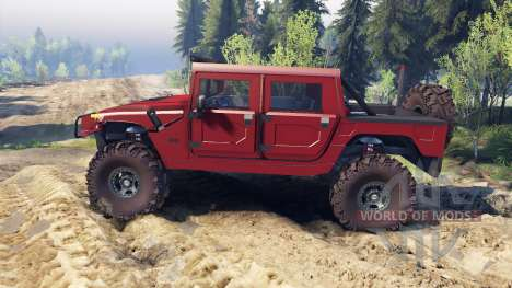 Hummer H1 fire house red для Spin Tires