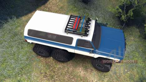 Chevrolet K5 Blazer 1975 Equipped blue and white для Spin Tires