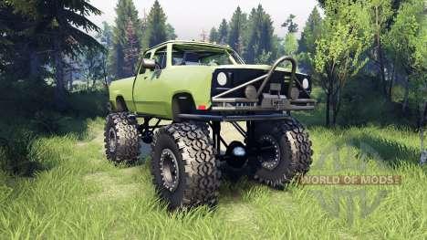 Dodge D200 green для Spin Tires