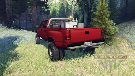 GMC Suburban 1995 Crew Cab Dually red для Spin Tires
