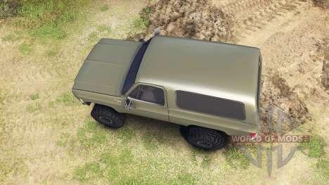 Chevrolet K5 Blazer 1975 army green для Spin Tires